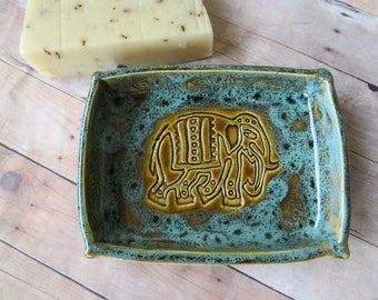 Ceramic soap dish, clay soap dish nature pottery soap dish stoneware soap dish elephant natural  holder,handmade ceramics and pottery