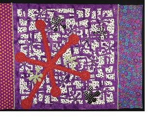 Handmade Art Quilt- Jacks