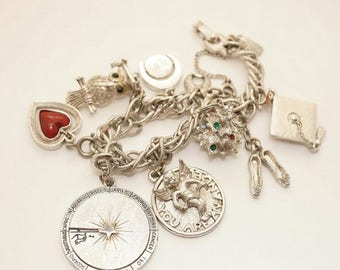 ON SALE Vintage 1960s Monet Charm Bracelet