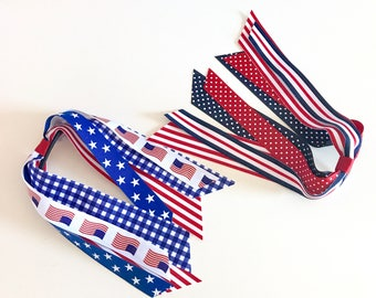 Patriotic Ponytail Streamers