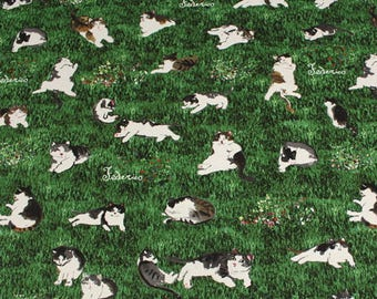 """Lots of Cats Cotton Manhattaner's 50cm length 110cm Wideth or 19"""" by 42"""" oxford"""