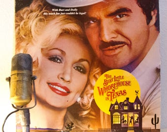 """ON SALE 1980s Musical Soundtrack Album Vinyl Records LP Sex Stage & Screen Dolly Parton Burt Reynolds """"The Best Little Whorehouse In Texas"""""""