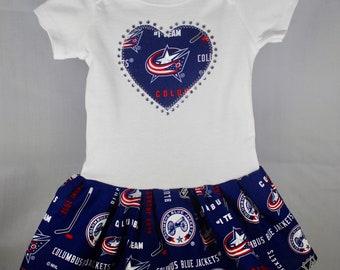 Columbus Blue Jackets Inspired Infant Dress