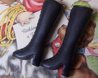 1980's barbie black boots