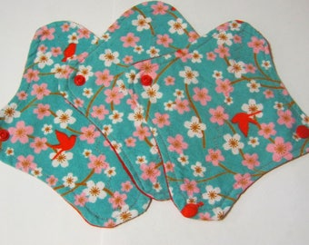 3 Cloth Panty Liners-Flowers