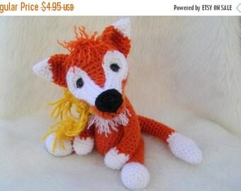 Summer Sale Crochet Pattern Fox by Teri Crews instant download PDF format Crochet Toy Pattern