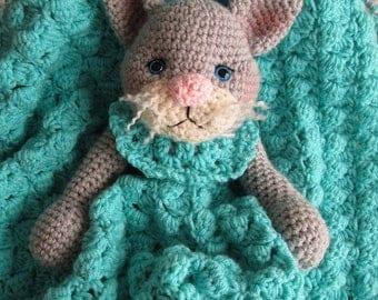 Summer Sale Crochet Pattern Cat Huggy Blanket by Teri Crews instant download PDF format