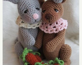 Summer Sale Crochet Pattern Rabbit by Teri Crews instant download PDF format Crochet Toy Pattern