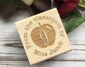 Teacher Stamp , Teacher Gift , From the Classroom Of Custom Rubber Stamp
