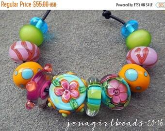 SALE Cabana Boy, Set 2 Lampwork Beads