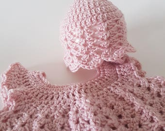Handmade Baby Girl Angel Dress & Hat ~ Newborn to 3 months ~ Baby Gift or Photography Prop