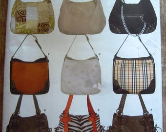 Handbags in Three Styles Donna Lang Accessories Simplicity Pattern 3828 UNCUT