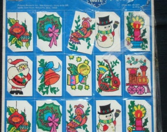 Vintage Christmas Gift Tags Never Used NOS Shiny Brite 15 Cards Vintage Christmas