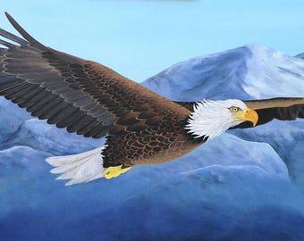 Eagle Painting/ ORIGINAL ART/Painting on Canvas