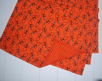 Set of Four Halloween Quilted Placemats