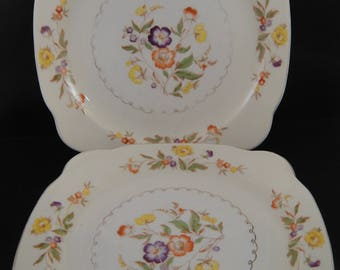 Buttercup Pattern by Paden City Two Salad Plates