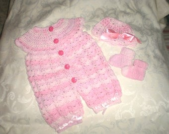 Newborn Romper 3 Piece Set