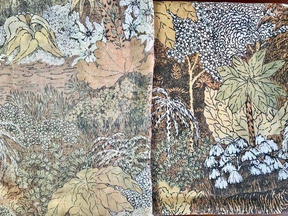sale vintage 3 piece twin flat sheet set remix bed sheets bedding retro linens hippie fabric lions tigers jungle vintage crafts fabric