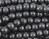 Wood Beads-8mm Round-Black-16 Inch Strand-Quantity 1