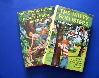 The Happy Hollisters and the Haunted House Mystery and The Happy Hollisters, Two Vintage Children's Books