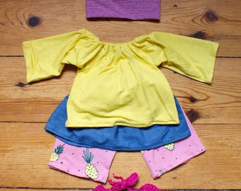 """Doll Outfit """"Pineapple"""" 40 cm"""