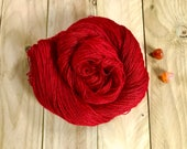 Banshee Tussah Silk Lace Yarn.  Firelight