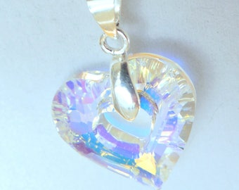 Swarovski open heart pendant necklace