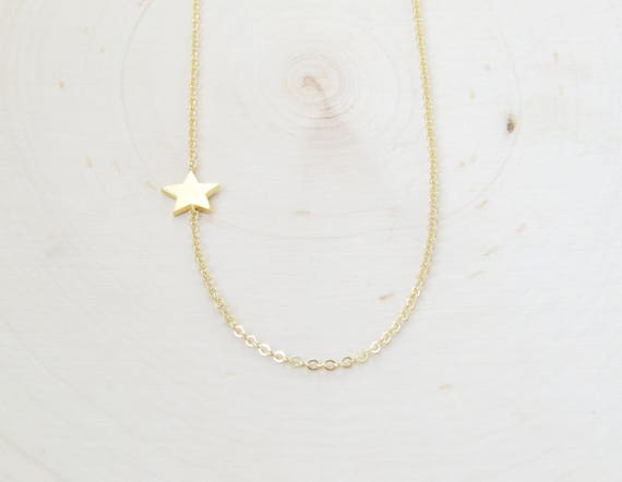 Tiny Star Necklace | Gold Star Necklace | Star Choker | Layering Necklace | Dainty Necklace | Gift for Her | Christmas Gift