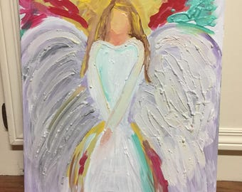 Angel - Original Painting on 16x20 Wrapped Canvas