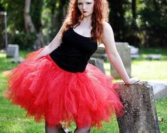 Summer sale Adult Tutu - Devil Costume - Red Tutu - Woman tutu -  Ladies Tutu  SEWN tutu Teen Tutu  tutu skirt - tulle skirt - Devil tutu