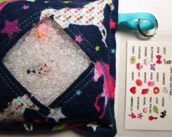 I Spy Bag Game, Rainbow Unicorns, Girls, seek and find, busy bag, travel toy game, gift, sensory occupational therapy, eye spy, vacation