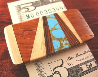 Inlaid Money Clip Groomsmen Gift for Men Money Clip Wallet Custom Money Clip MC418-RR