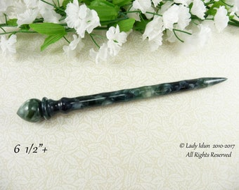 NEW Hair Stick Longer Length Black Quartz Acrylic