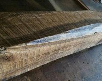 rustic oak barn wood mantel beam from 1800s barn