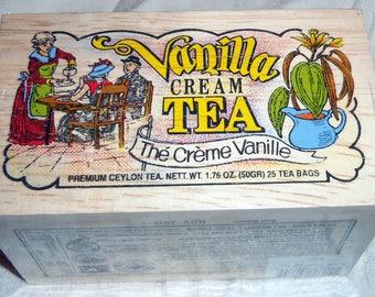 Cream Vanilla Tea Bags 25 In Reusable Wooden Box From Metropolitan Tea Company
