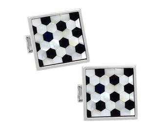 Black & White Shell Cufflinks