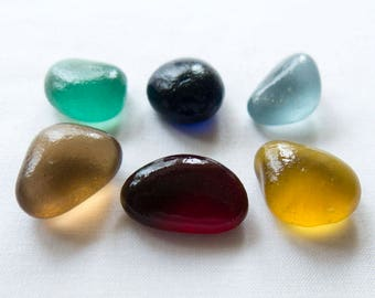 English Sea glass - Vintage colours -  lot DC1051