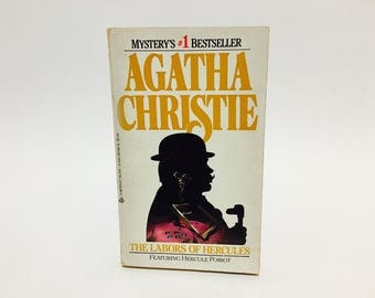 Vintage Mystery Book The Labors of Hercules by Agatha Christie 1986 Paperback