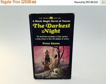 SUMMER BLOWOUT Vintage Occult Book The Darkest Night by Peter Saxon 1967 Paperback Black Magic