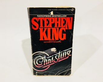 Vintage Horror Book Christine by Stephen King 1983 First Edition Paperback