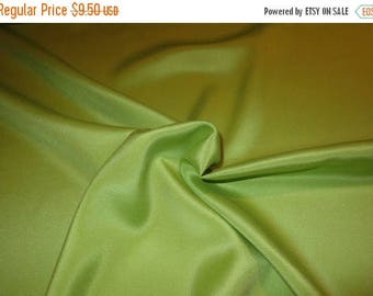 ON SALE REMNANT--Acid Green Stretch 2 Ply Crepe Silk Fabric--One Yard