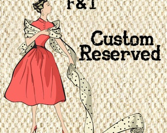 Reserved for--Julia McHugh--Salmon Pink and Red with Green Floral Print Stretch Cotton Sateen Fabric--2.5 Yards