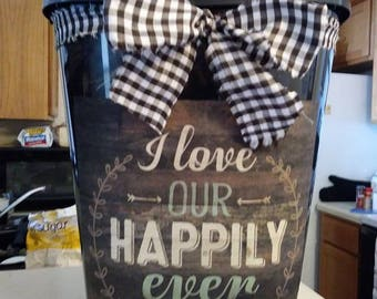 Happily Ever After Beautiful Decorative Trash Can! Wonderful Addition To Ur Decor
