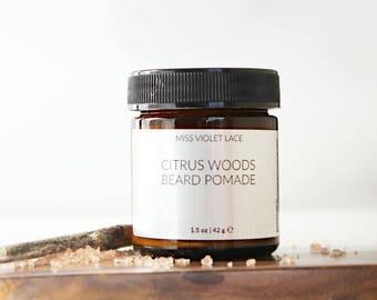 Citrus Woods Beard Balm | Conditioning Cream For Facial Hair | 100% natural + vegan