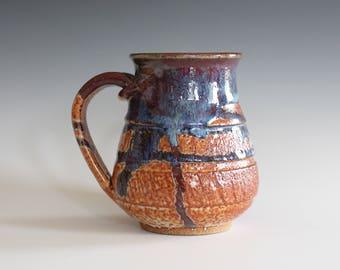 Stoneware Mug, 15 oz, handmade ceramic cup, ceramic stoneware mug, coffee cup