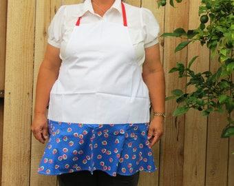 Full Apron with Flirty Skirt: Summer Strawberries