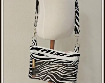 clear pocket bag, lipstick crossbody bag, zebra print bag, lip gloss rep bag, direct sales purse, catalogue display purse, presenter bag