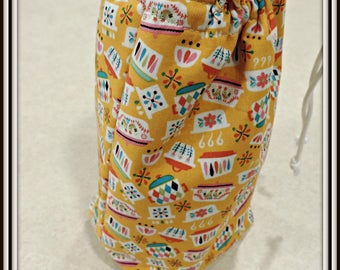quart jar lunch bag, fabric lunch bag, glass lunch bag, salad in a jar bag, mason jar bag, single jar bag, retro lunch bag, padded lunch bag
