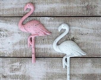 ON SALE Flamingo~Flamingo Hook~Towel Hook~Beach~Pool House~Bird~Pink~Retro~Iron Wall Hook~Flamingo Wall Hook