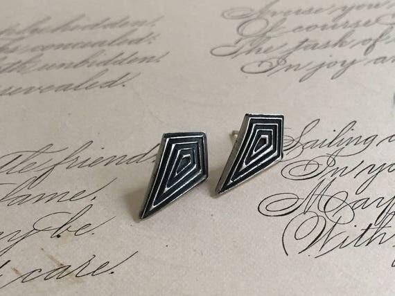 Silver Geometric Earrings | Kite Earrings | Diamond Shaped Earrings